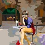 κόκκινο κρασί γυαλιού διανυσματική απεικόνιση
