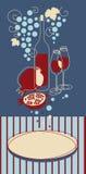 κόκκινο κρασί εμβλημάτων Στοκ Εικόνες