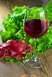 κόκκινο κρασί ζαμπόν Στοκ Εικόνα