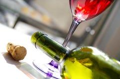 κόκκινο κρασί καφέδων Στοκ Φωτογραφίες