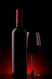 κόκκινο κρασί κλίσης γυα στοκ εικόνες
