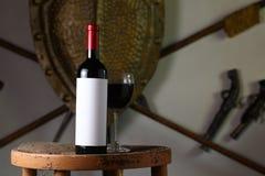 κόκκινο κρασί μπουκαλιών Στοκ Φωτογραφίες