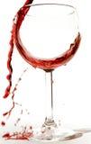 κόκκινο κρασί παφλασμών Στοκ Εικόνα