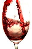 κόκκινο κρασί παφλασμών στοκ φωτογραφία με δικαίωμα ελεύθερης χρήσης