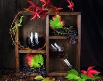 Κόκκινο κρασί σε ένα γυαλί κρυστάλλου Στοκ εικόνα με δικαίωμα ελεύθερης χρήσης