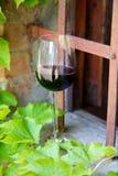 Κόκκινο κρασί σε ένα γυαλί κρασιού Στοκ εικόνες με δικαίωμα ελεύθερης χρήσης