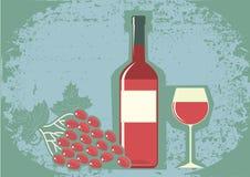κόκκινο κρασί σταφυλιών απεικόνιση αποθεμάτων