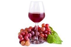 Κόκκινο κρασί στο γυαλί/κόκκινο κρασί/κόκκινο κρασί στο γυαλί στο άσπρο υπόβαθρο Στοκ Εικόνες