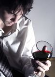 κόκκινο κρασί 3 Στοκ Φωτογραφία