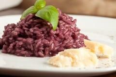 κόκκινο κρασί risotto Στοκ Εικόνες