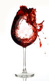 Κόκκινο κρασιού στο γυαλί Στοκ φωτογραφίες με δικαίωμα ελεύθερης χρήσης