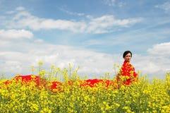 κόκκινο κύμα κοριτσιών Στοκ εικόνα με δικαίωμα ελεύθερης χρήσης
