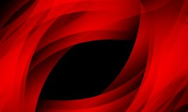 Κόκκινο κύμα στο μαύρο υπόβαθρο με την επίδραση φωτισμού, ομαλή, καμπύλη, διανυσματική απεικόνιση απεικόνιση αποθεμάτων