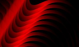 Κόκκινο κύμα στο μαύρο υπόβαθρο, ταπετσαρία με την επίδραση φωτισμού, ομαλή, καμπύλη, διανυσματική απεικόνιση ελεύθερη απεικόνιση δικαιώματος