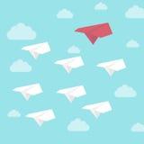 Κόκκινο κύριο αεροπλάνο εγγράφου απεικόνιση αποθεμάτων