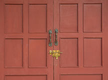 κόκκινο κλειδωμάτων πορ&tau Στοκ Φωτογραφίες