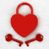 κόκκινο κλειδωμάτων Στοκ φωτογραφίες με δικαίωμα ελεύθερης χρήσης