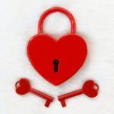 κόκκινο κλειδωμάτων Στοκ Εικόνες