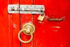 κόκκινο κλειδωμάτων Στοκ Φωτογραφίες