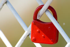 κόκκινο κλειδωμάτων Στοκ Εικόνα