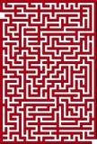 κόκκινο λαβυρίνθου Στοκ φωτογραφία με δικαίωμα ελεύθερης χρήσης