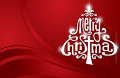 Κόκκινο λαμπρό χριστουγεννιάτικο δέντρο Στοκ Εικόνα