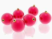 κόκκινο λευκό διακοσμήσεων Χριστουγέννων ανασκόπησης Στοκ Φωτογραφία