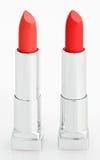 κόκκινο λευκό δύο κραγιό&n Στοκ φωτογραφία με δικαίωμα ελεύθερης χρήσης