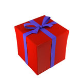 κόκκινο λευκό δώρων κιβω&t απεικόνιση αποθεμάτων
