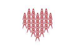 κόκκινο λευκό καρδιών αν&alp απεικόνιση αποθεμάτων
