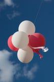 κόκκινο λευκό μπαλονιών Στοκ Φωτογραφία