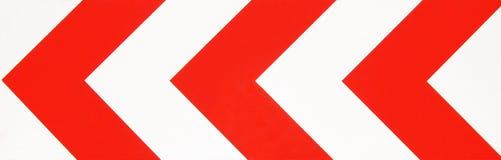 κόκκινο λευκό οδικών σημ&a Στοκ Φωτογραφία