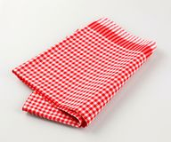 κόκκινο λευκό πετσετών τ&si Στοκ Φωτογραφία