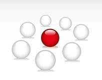 κόκκινο λευκό σφαιρών διανυσματική απεικόνιση