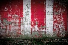 κόκκινο λευκό τοίχων Στοκ φωτογραφίες με δικαίωμα ελεύθερης χρήσης
