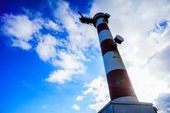 κόκκινο λευκό φάρων Στοκ φωτογραφίες με δικαίωμα ελεύθερης χρήσης