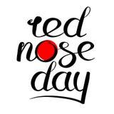 Κόκκινο λογότυπο ημέρας μύτης Στοκ Εικόνα