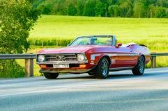 Κόκκινο 1972 μάστανγκ της Ford Στοκ Φωτογραφίες