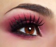 Κόκκινο μάτι Makeup Στοκ φωτογραφία με δικαίωμα ελεύθερης χρήσης