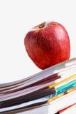 κόκκινο μήλων copybooks Στοκ Φωτογραφία