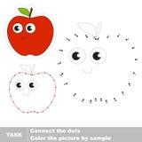 Κόκκινο μήλο Διανυσματικό παιχνίδι αριθμών ελεύθερη απεικόνιση δικαιώματος