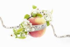Κόκκινο μήλο - μέτρο, νωποί καρποί Στοκ φωτογραφία με δικαίωμα ελεύθερης χρήσης