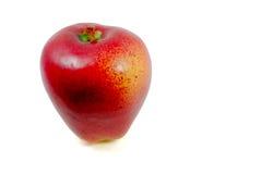 Κόκκινο μήλο που απομονώνεται στην άσπρη ανασκόπηση Στοκ φωτογραφία με δικαίωμα ελεύθερης χρήσης
