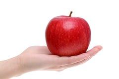 Κόκκινο μήλο σε ετοιμότητα Στοκ εικόνες με δικαίωμα ελεύθερης χρήσης