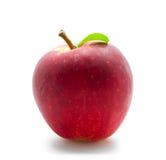 Κόκκινο μήλο στο λευκό Στοκ Φωτογραφίες