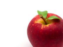 Κόκκινο μήλο στο λευκό Στοκ εικόνες με δικαίωμα ελεύθερης χρήσης