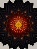 Κόκκινο μαύρο και πορτοκαλί αστέρι Mandala απεικόνιση αποθεμάτων