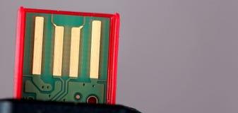Κόκκινο μαύρο ραβδί μνήμης USB Στοκ Εικόνες