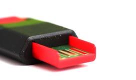 Κόκκινο μαύρο ραβδί μνήμης USB Στοκ φωτογραφίες με δικαίωμα ελεύθερης χρήσης