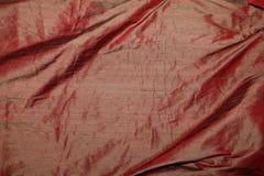 κόκκινο μετάξι υφάσματος Στοκ Εικόνες
